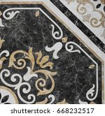 abstract geometric pattern ... | Shutterstock . vector #668232517
