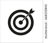 vector icon target   Shutterstock .eps vector #668233843