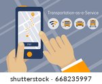taas  transportation as a... | Shutterstock .eps vector #668235997