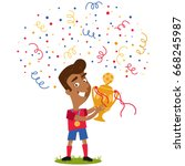 confetti and streamers... | Shutterstock .eps vector #668245987