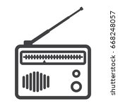 radio line icon  fm and... | Shutterstock .eps vector #668248057