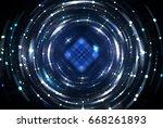 abstract background blue light... | Shutterstock . vector #668261893