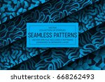 collection of 5 different... | Shutterstock .eps vector #668262493