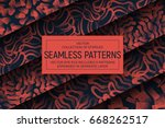 collection of 5 different... | Shutterstock .eps vector #668262517