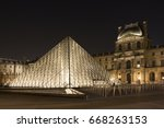 paris   january 17  2017  night ... | Shutterstock . vector #668263153