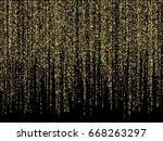 gold glitter festoons hanging... | Shutterstock .eps vector #668263297