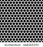 honeycomb wallpaper. repeated... | Shutterstock .eps vector #668265253