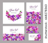 floral template birthday ... | Shutterstock .eps vector #668278363