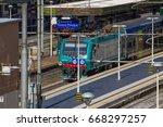 genoa italy   train station of... | Shutterstock . vector #668297257