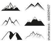 mountains vector icon   Shutterstock .eps vector #668309437