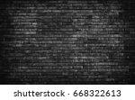 black brick wall texture  brick ...   Shutterstock . vector #668322613