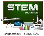 stem education poster design... | Shutterstock .eps vector #668334643