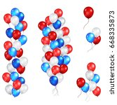 color holiday balloons set in... | Shutterstock .eps vector #668335873