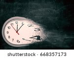 time is running out concept... | Shutterstock . vector #668357173