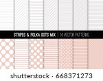 polka dot and diagonal and... | Shutterstock .eps vector #668371273