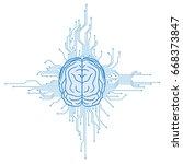 ai artificial intelligence ...   Shutterstock .eps vector #668373847