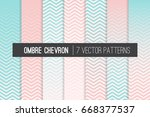 blush pink and soft aqua ombre... | Shutterstock .eps vector #668377537