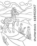 coloring pages. little cute... | Shutterstock .eps vector #668402047