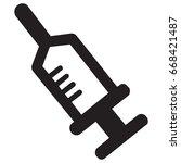 syringe thin line icon | Shutterstock .eps vector #668421487