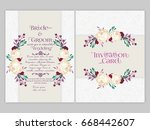 nice and creative wedding card... | Shutterstock .eps vector #668442607