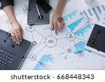 organisation structure. people... | Shutterstock . vector #668448343