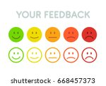 set faces scale feedback  ... | Shutterstock .eps vector #668457373