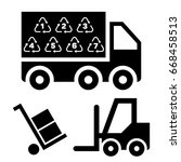 illustration of logistic...   Shutterstock .eps vector #668458513