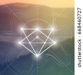 sacred geometry illustration... | Shutterstock .eps vector #668460727