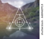 sacred geometry illustration... | Shutterstock .eps vector #668460913