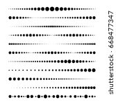 lines made of dots. for brushes ... | Shutterstock .eps vector #668477347