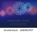 a vector fireworks background... | Shutterstock .eps vector #668481907