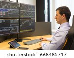 stock broker trading online... | Shutterstock . vector #668485717