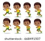 vector set of running man...   Shutterstock .eps vector #668491507