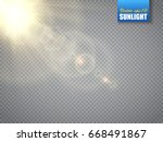 lens flare light effect. sun... | Shutterstock .eps vector #668491867