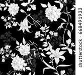 black and white roses and... | Shutterstock .eps vector #668491933