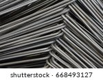 steel for reinforced concrete | Shutterstock . vector #668493127