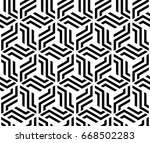the geometric pattern with... | Shutterstock . vector #668502283