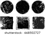 grunge post stamps collection ... | Shutterstock .eps vector #668502727