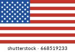 national united state of... | Shutterstock .eps vector #668519233
