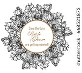 romantic invitation. wedding ... | Shutterstock .eps vector #668521873