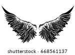 wings. vector illustration on...   Shutterstock .eps vector #668561137