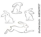 outline illustration of... | Shutterstock .eps vector #668569957