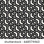seamless sacred geometry... | Shutterstock .eps vector #668574463