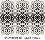 hexagon halftone gradient... | Shutterstock .eps vector #668574523