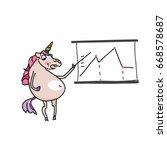 unicorn vector illustration... | Shutterstock .eps vector #668578687