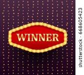 winner luxury retro banner...   Shutterstock .eps vector #668605423