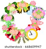 the frame that is made with... | Shutterstock .eps vector #668609947