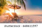 beautiful beach. summer holiday ... | Shutterstock . vector #668611597