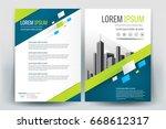 modern business brochure layout ... | Shutterstock .eps vector #668612317