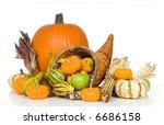 Cornucopia With Fall Harvest...